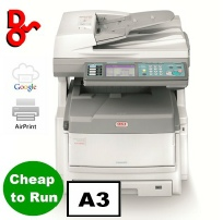 Chichester, Midhurst and Bognor Regis for sale refurbished colour A3 photocopier, OKI ES8460dn extremely reliable, service garuntee, and cheap to run